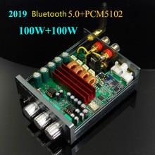 GHXAMP TPA3116 Khuếch Đại Bluetooth 5.0 + PCM5102A Giải Mã Âm Thanh Máy HIFI Stereo Kỹ Thuật Số AMP 100 wát * 2 Xe Nhà rạp hát gia đình 2019 Mới Nhất