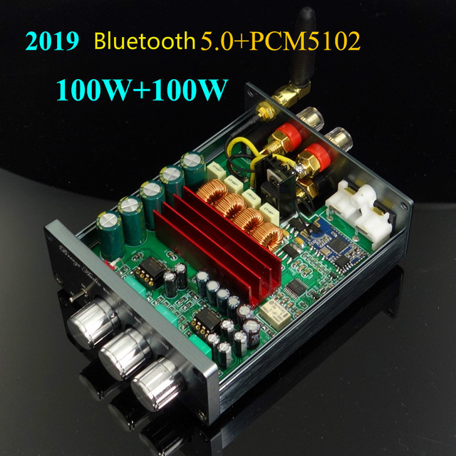GHXAMP TPA3116 amplificateur Bluetooth 5.0 + PCM5102A décoder Audio Machine HIFI stéréo amplificateur numérique 100 W * 2 voiture Home cinéma 2019 plus récent