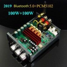 Ghxamp tpa3116 amplificador bluetooth 5.0 + pcm5102a decodificação máquina de áudio alta fidelidade estéreo digital amp 100 w * 2 carro teatro em casa 2019 mais novo