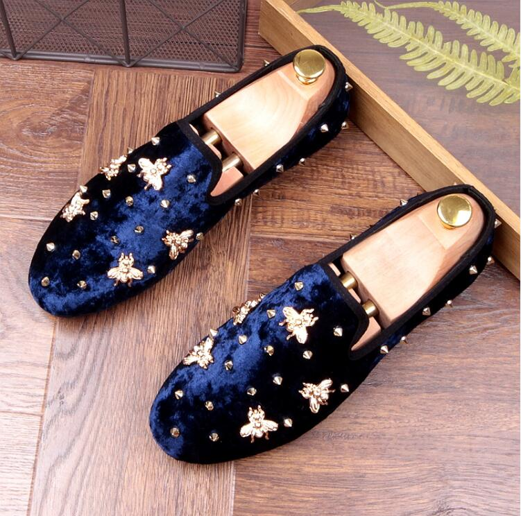 Slip-On  Mens New Flats Loafers Smart Casual Moccasin Gommino Suede Rivets NightClub Fashion Male Dress Massage Sole LoafersSlip-On  Mens New Flats Loafers Smart Casual Moccasin Gommino Suede Rivets NightClub Fashion Male Dress Massage Sole Loafers
