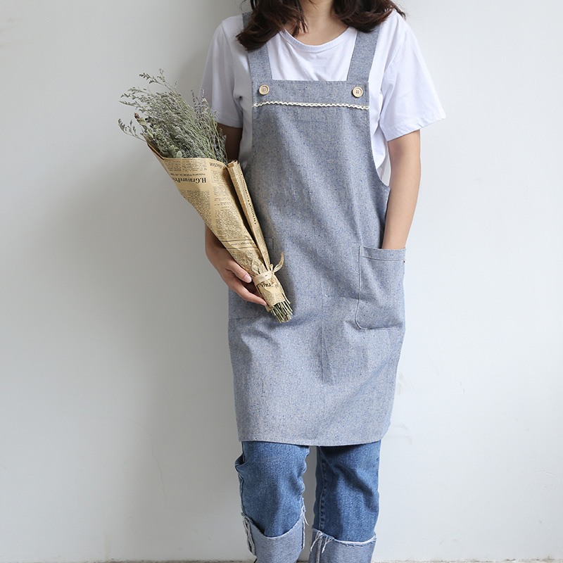 Household Cleaning Good Household Cleaning Tools Accessories Aprons Japanese-style Cotton And Linen Parent-child Overalls Clothes Baking Service Jul26 Aprons