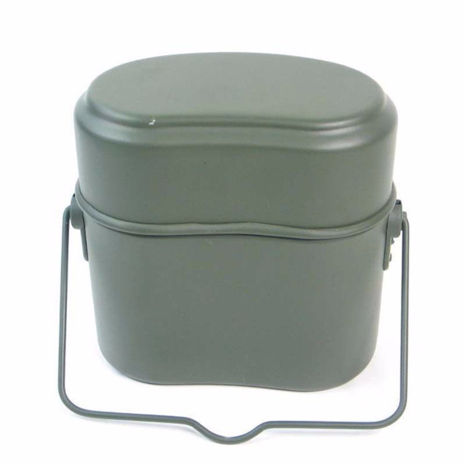 Image 5 - WWII Germany Military Green 3pcs in 1 Camping Cookware Cook Set Hiking Survival Bento Lunch Boxes Pot/Bowl-in Outdoor Tablewares from Sports & Entertainment