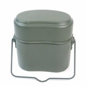 Image 5 - WWII allemagne militaire vert 3 pièces en 1 Camping batterie de cuisine ensemble de cuisine randonnée survie Bento boîtes à déjeuner Pot/bol
