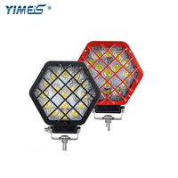 Yimeis 5 Inch 48W LED Work Light With Protection Net Highlight Lamp Bead Car Searchlight LED Bar Light for Jeep Offroad Tractor