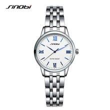 SINOBI Model Women Watch 2016 Trend Informal Watch Full Metal Watch Ladies Silver Montre Femme Marque De Luxe Waterproof Watches