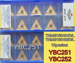 Image 1 - TNMG160404R TNMG160408R TNMG160404L TNMG160408L YBC251 YBC252 10pcs Zcc.ct Carbide insert Processing: steel