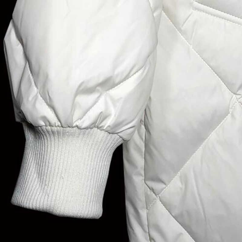 Sedutmo зимние длинные женские пуховики ультра легкий утка вниз пальто оверсайз белый пуховик тонкий Осенние парки ED464