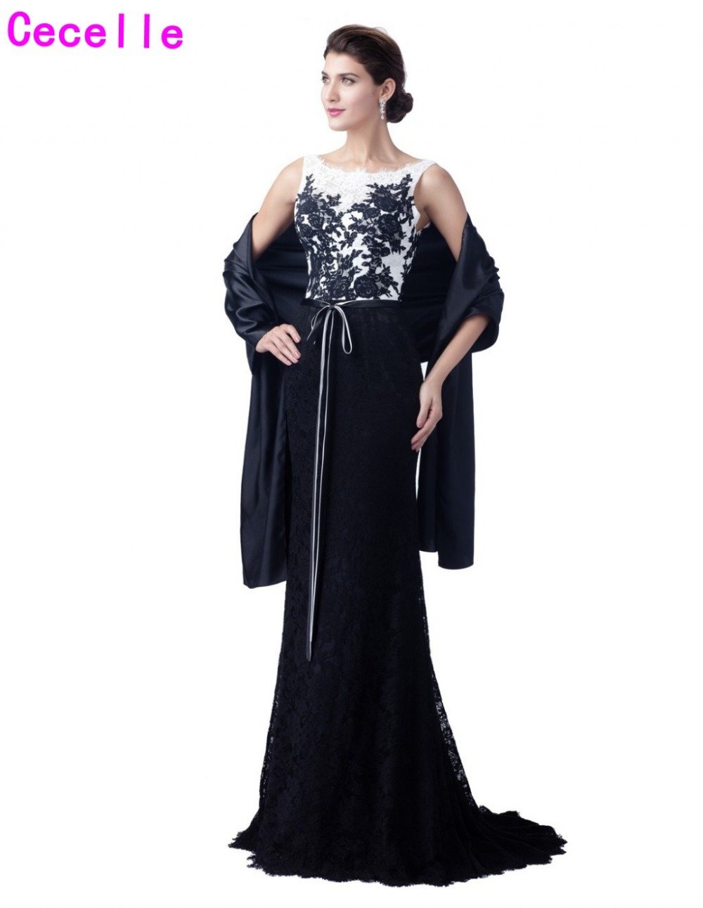 2019 navy blue lace mermaid long mother of the bride