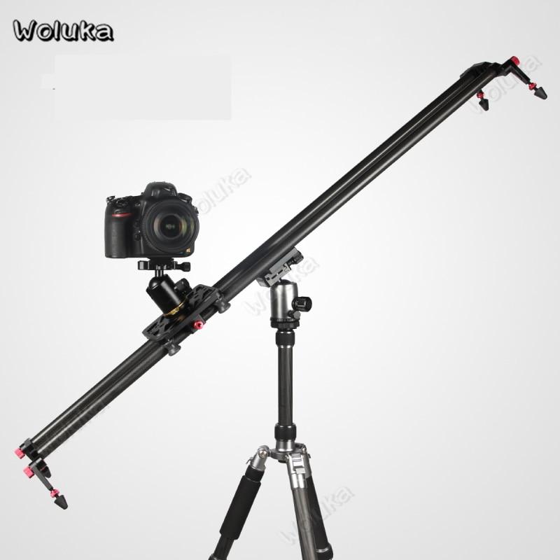 Slider Dolly Track Carbon Fiber 60 80 100 120cm Damping Double Rail Slide System Ball Head For DSLR Camera Smartphone CD50 T10