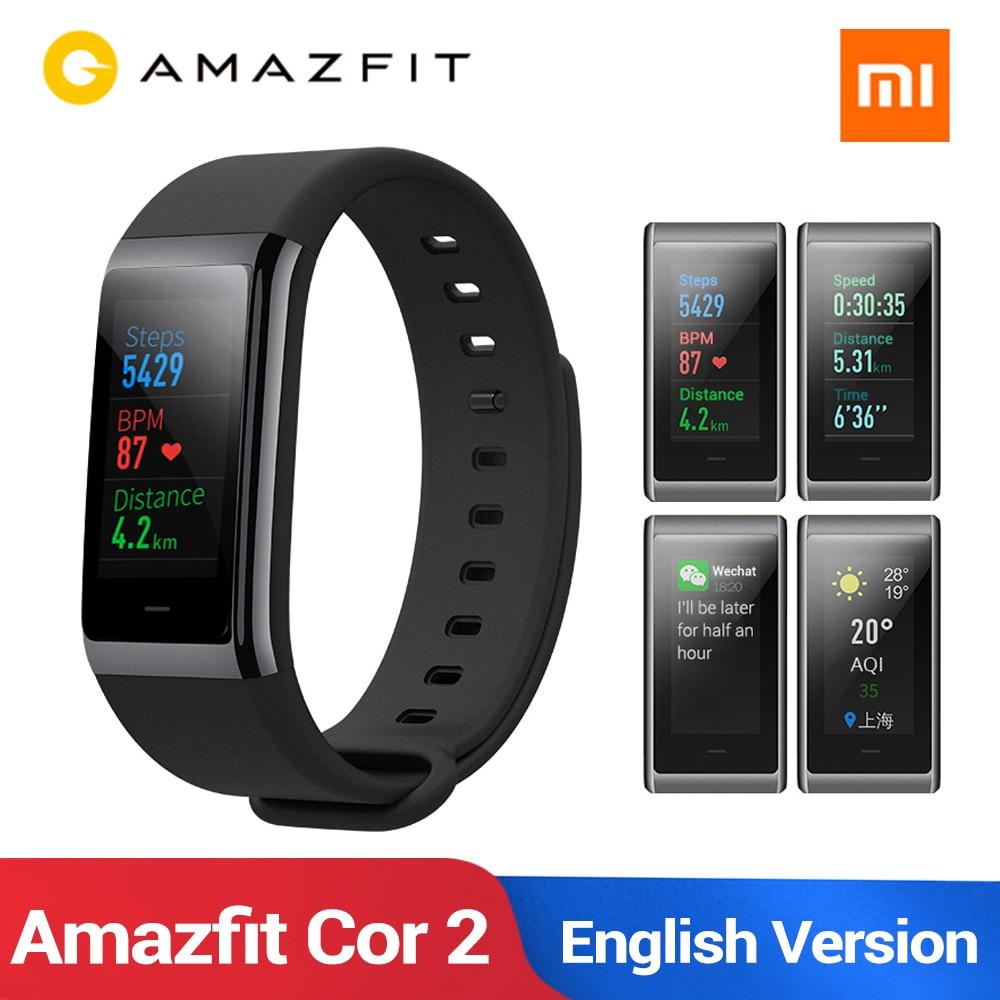 NEW English Huami Amazfit Band Cor 2 Smart Bracelet 5ATM Waterproof 2 5D Color IPS 316L