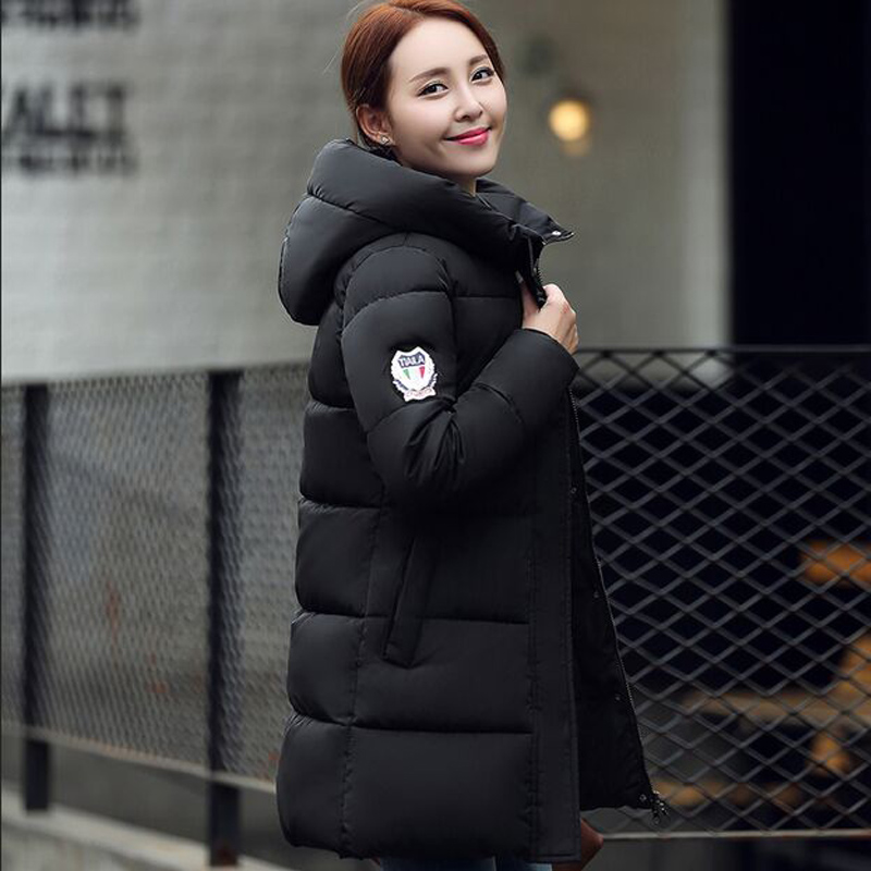 ФОТО Wadded Clothing Female 2016 New Women's Winter Jacket Down Cotton Jacket Slim Parkas Ladies Coats Plus Size M-XXXL