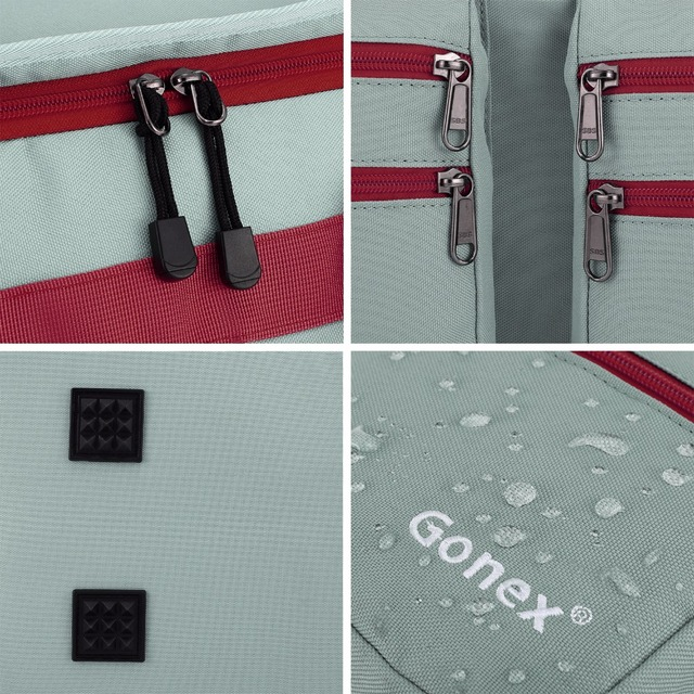 Gonex 45L Men Travel Duffel Gym Sports Luggage Bag Water-resistant Duffel with Shoes Pockets Multifunctional 5