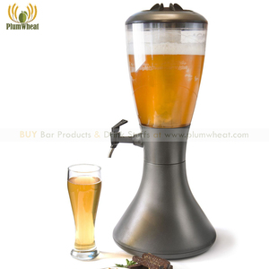 4 Liters High Quality Black Beer Dispenser Tower with Big Ice Tube(China)