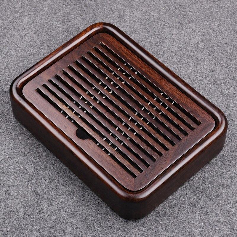 27*20*5cm Kongfu Tea Tray Luxury Small Gongfu tea tray with water tank of Wood Ebony tea tray traditional Chinese tea tray wood