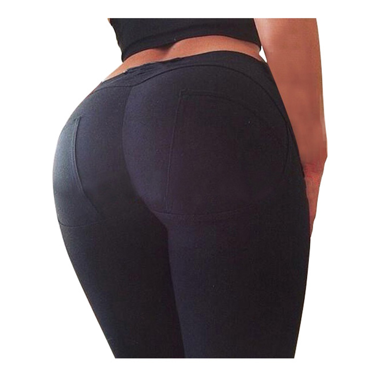 Hot Sexy Women Butt Lift Pants Colombian Brazilian Style Stretchy Skinny Pencil Tight Trousers slack skinny tight fit work pants