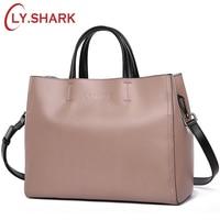 LY SHARK Women Bag Messenger Shoulder Crossbody Bag Ladies Genuine Leather Bags Handbags Women Famous Brand