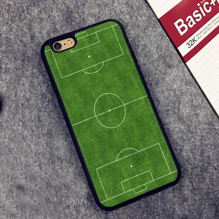 Estadio football soccer Court Layout Soft TPU Silicone Full Protective case Cover For iPhone X 8 7 7Plus 6 6S Plus 5 5S 5C SE