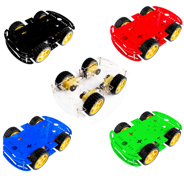5 colors 4WD Smart Robot Car Chassis Kits for arduino with Speed Encoder New(choose one color )