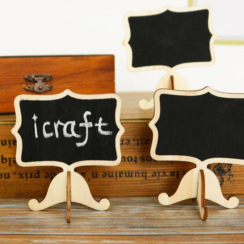 5pcs Mini Wooden Blackboard Stand Chalkboard Label Message Writing Notice Board Table Number Boards Office School Supplies