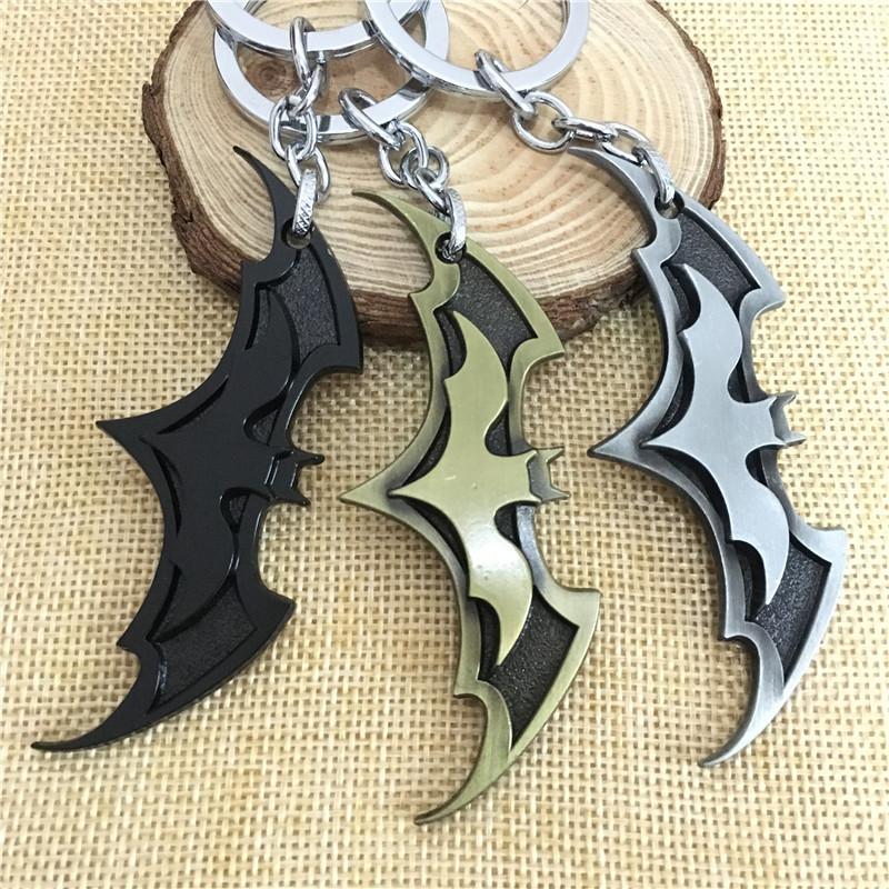 HTB1 88wdlDH8KJjSspnq6zNAVXak - 2019 New Fashion Avenger Union Batman keychains For Bag Key Holder Charm Hanging pendant Car Key Chains Key Ring Women & Men