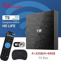 FANGTUOSI T9 TV Box Android 8.1 4GB 32GB 64GB Smart TV Rockchip RK3328 1080P H.265 4K Google Play Netflix Youtube media player
