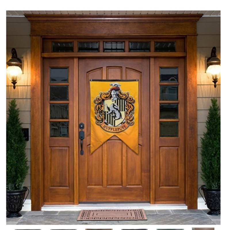 Magic Harri Potter College Flag Banners Gryffindor Slytherin Hufflerpuff Ravenclaw Kids Toys Gift Home Decoration Party Supplies