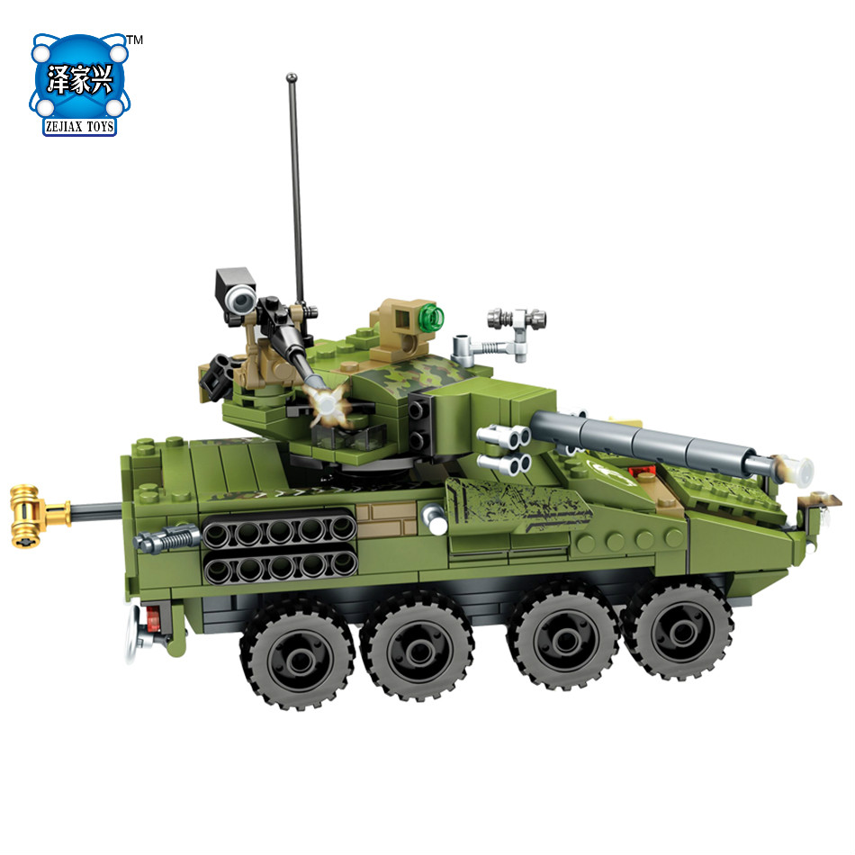438pcs Block Military Tanks Field Armed Forces Lepins Building Blocks Set Army Soldiers Figures Bricks Toys for Children Friends 8 in 1 military ship building blocks toys for boys