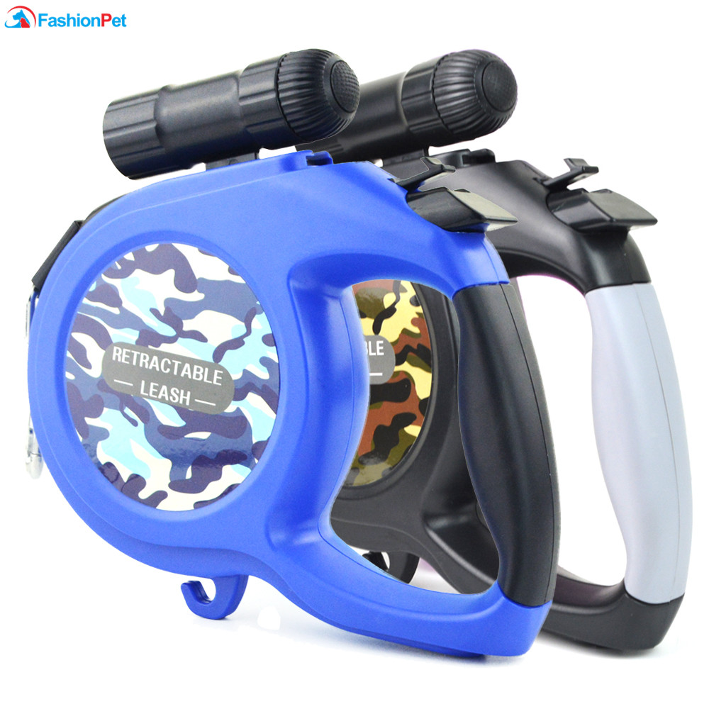 New Arrival 8M 50kg Large Dog Leash Retractable Extending Pet Leash Lead for Big and Medium Dog with LED 2