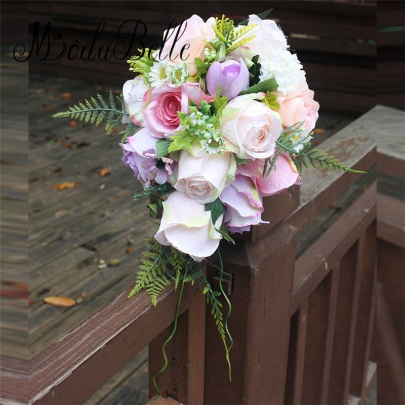 What Are Cheap Flowers For Weddings: Ramos De Novia Pink Purple Cheap Wedding Bouquets
