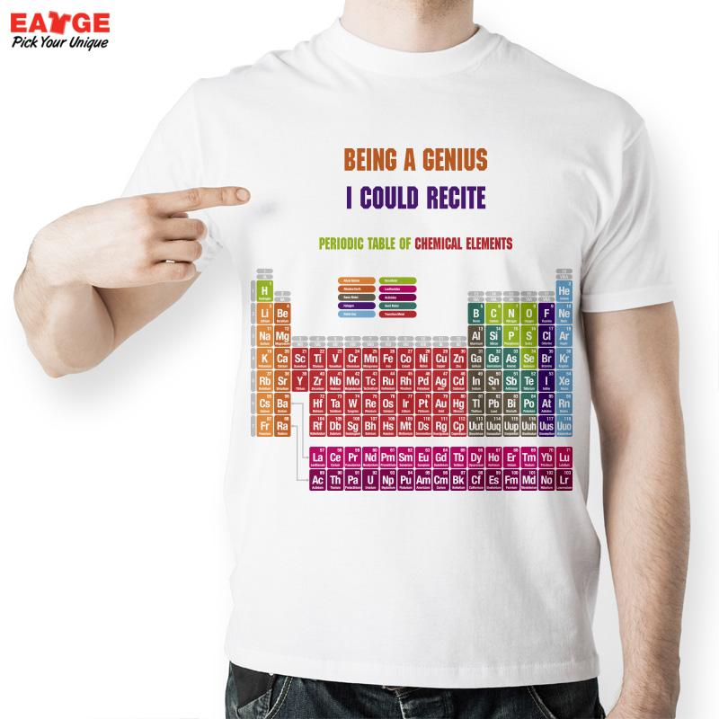 Creative cool geek periodic table of chemical elements t shirt creative cool geek periodic table of chemical elements t shirt fashion letter white printed t shirt for men and women in t shirts from mens clothing urtaz Choice Image
