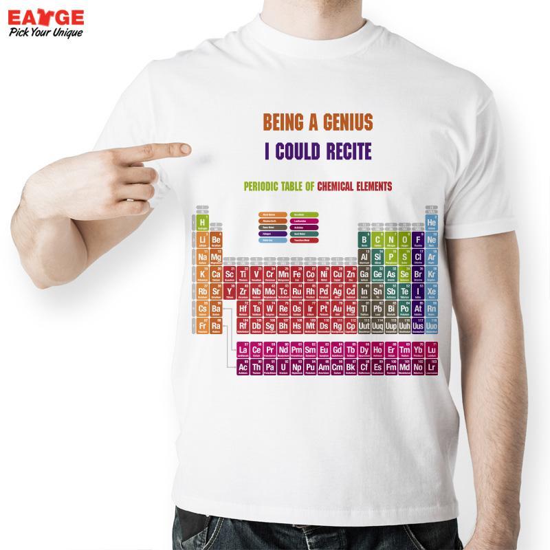 Creative cool geek tabla peridica de elementos qumicos t shirt creative cool geek tabla peridica de elementos qumicos t shirt moda carta impreso blanco camiseta para hombres y mujeres en camisetas de moda y urtaz Image collections