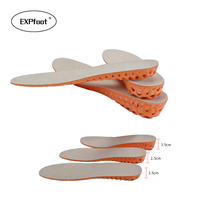 High Quality Genuine Leather Memory Form Increased Insole Lift Height 15 35 Increase Heel Insoles Pair