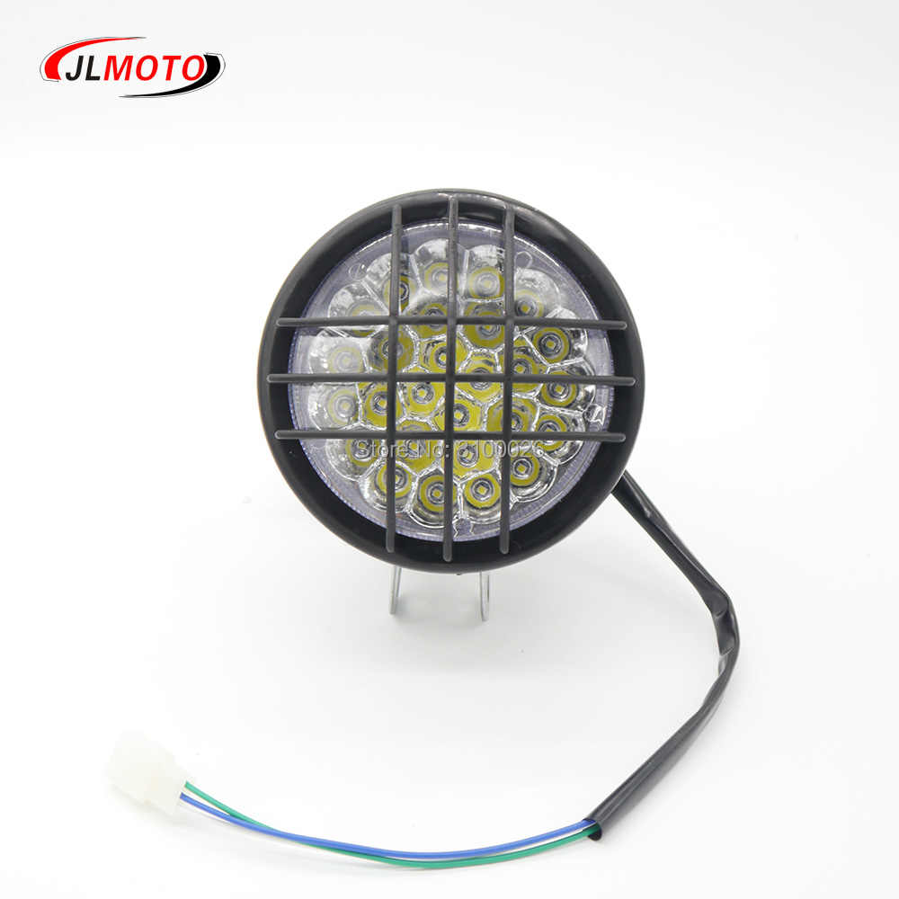 12v Led Quad 12v Led Front Light Fit For 110cc 150cc 200cc Atv Quad Bike Utility Terrain Vehicle Armada Atv150b Buggy Electric Scooter Parts