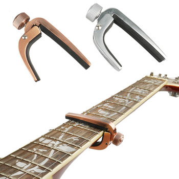 Alice Guitar Capo Clip On Cheap Portable Bronze Guitar Chromatic Capo For Acoustic Electric Guitarra Bass New metal guitar capo with bridge pin remover fit for acoustic electric guitar bass ukulele mandolin soprano concert tenor baritone