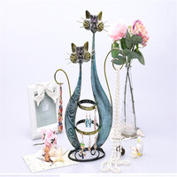 Creative new jewelry frame retro cartoon cat earrings storage ornaments necklace bracelet jewelry display stand S049