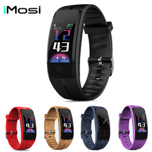 Imosi Smart bracelet QS100 Fitness tracker Color screen smart wristband heart rate monitor Blood pressure Measure PK mi band 3 smart watch m19 heart rate fitness bracelet sleep monitor smart tracker blood pressure smart band color screen band pk mi band 3