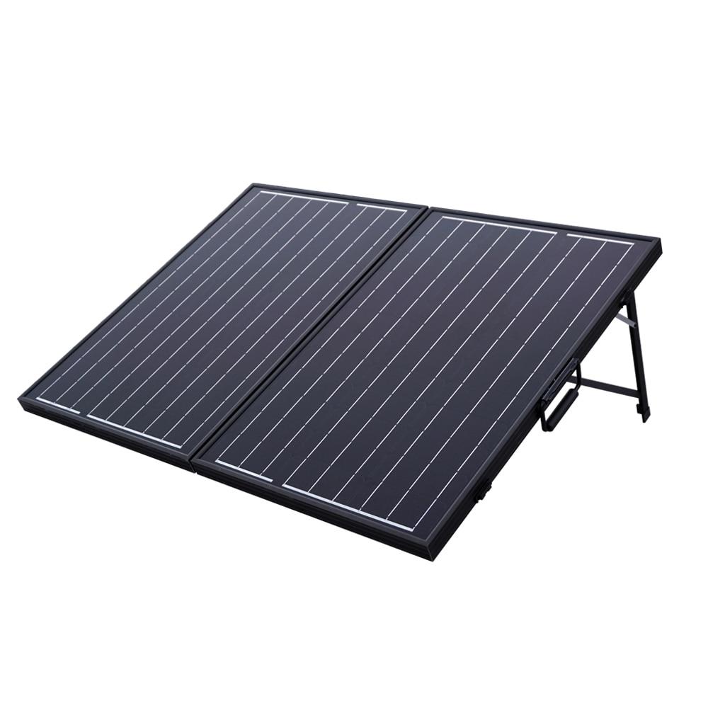 100w Mono Folding Foldable Solar Panel Complete Kit 12v Battery Grid Generators-in