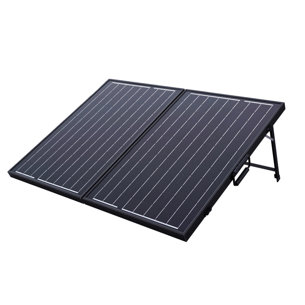 UK Stock 100W Mono Folding Foldable Solar Panel Complete Kit for 12V Battery Off Grid Solar Generators uk stock 120w foldable solar panel ideal for caravan includes regulator complete kit