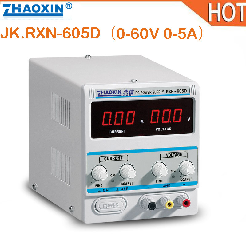 цена на 2018 hot 60V 5A DC Power Supply RXN-605D Variable Adjustable Linear DC Adjustable Power Supply