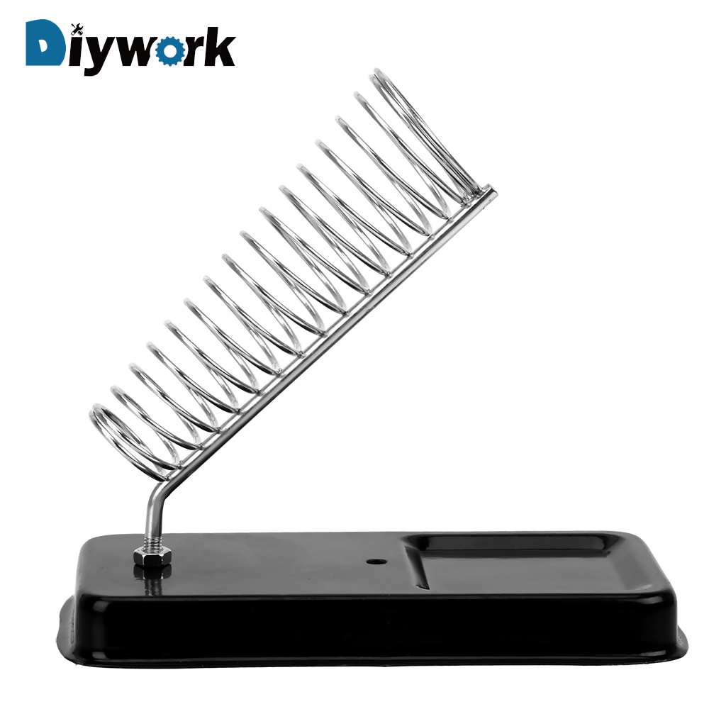 DIYWORK Generic Electric Soldering Iron Stand Holder Soldering Iron Frame Metal Support Station High Temperature Resistance
