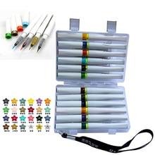 12/24 di Scintillio di Colori Pennello Sparkle Lustro Marker Pen Set Per Sparkle Lustro Al Lettering Stampaggio Progetto