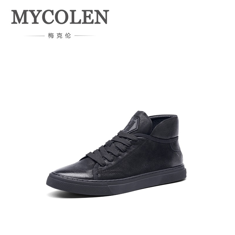 MYCOLEN 2018 New Men Shoes Winter Lightweight Breathable Casual Shoes Men High Top Brand Sneakers Zapatillas Hombre Deportiva high top sneakers men shoes casual zapatos hombre orange winter shoes for men casual sneakers breathable new design brand shoes
