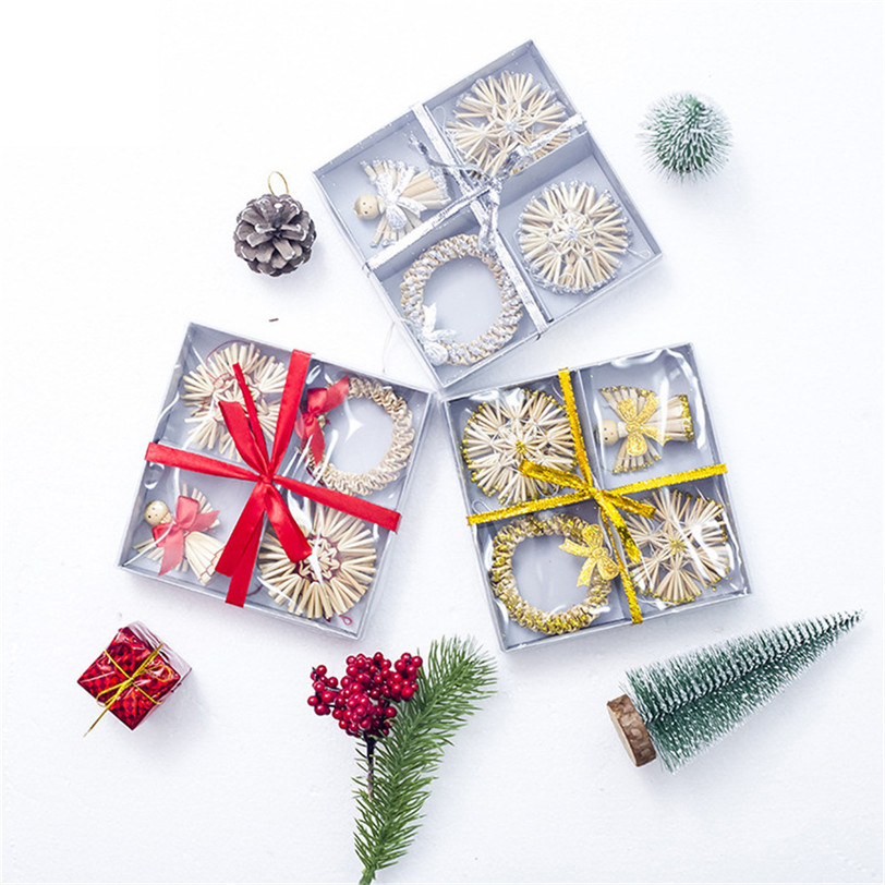 Christmas Ornament Angels From Office Supplies: Straw Angel Wreath Christmas Supply Decoration For Home