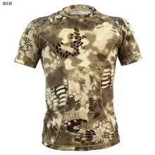 Мужская тактическая футболка спортивная респирационная крутая рубашка одежда военная с коротким рукавом камуфляжные футболки дышащая