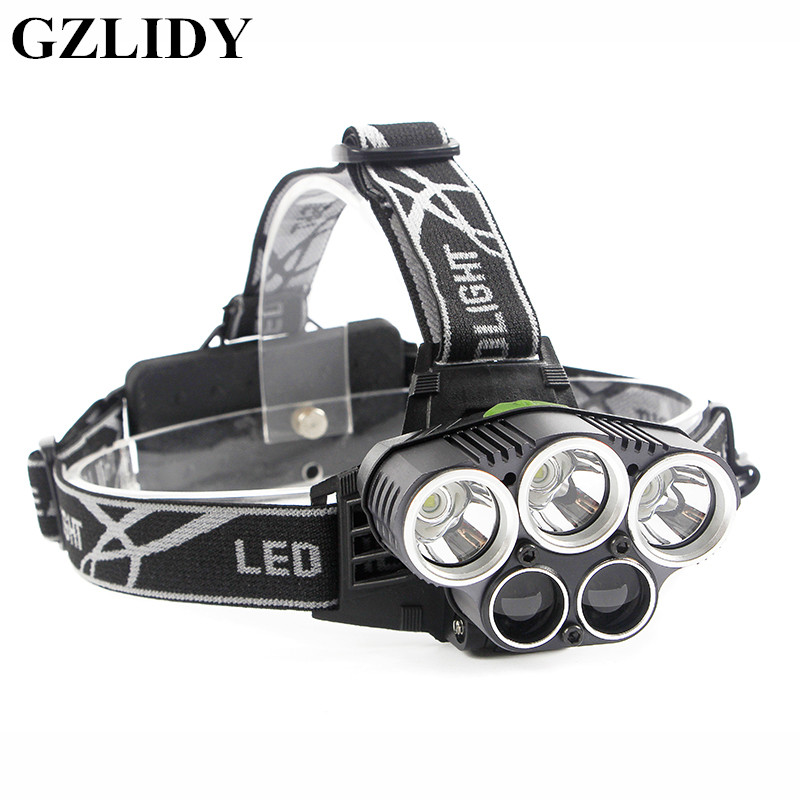 GZLIDY LED Headlamp 5 CREE XM-GZLIDY L T6 Q5 Headlight LED Headlamp Camp Hike Emergency Light Fishing Outdoor + free USB cable.
