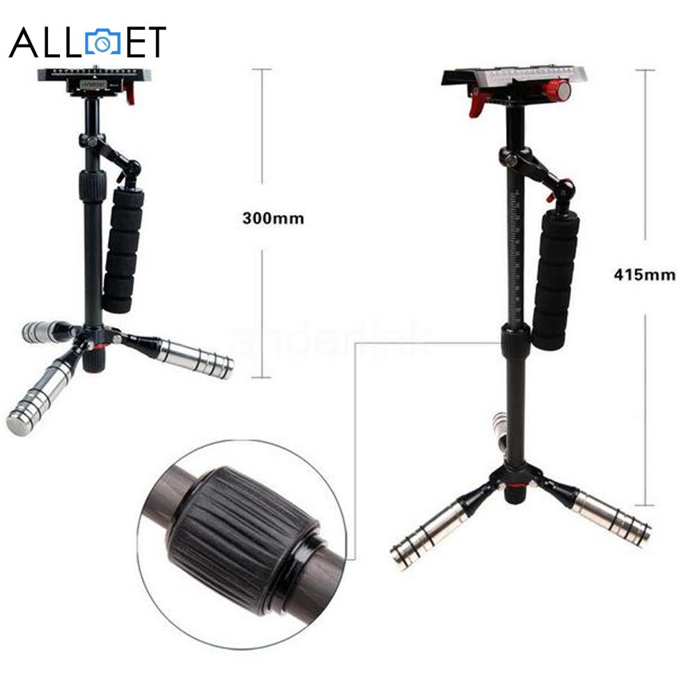 Light Weight Portable Carbon Fiber Stabilizer Monopod For Camcorder DV Camera DSLR Photography Accessories viltrox universal ll 162vb dslr camera led light for camera dv camcorder