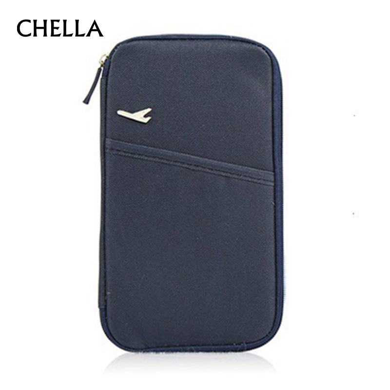Passport Cover Travel Credit ID Card Holder Cover Money Wallet Document Organizer Men Women Multifunction Passport Bag PC0050 travel bag wallet purse document organizer zipped passport tickets id holder new