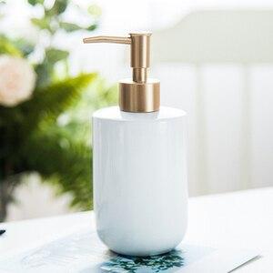 Image 4 - Shower Gel Bottle Hotel Liquid Soap Dispenser Bathroom Portable Ceramics Pump Detergent Sanitizer Bathroom Soap Dispenser