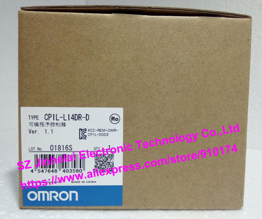 100% New and original  CP1L-L14DR-D  OMRON PLC CONTROLLER new and original e3x da11 s omron optical fiber amplifier photoelectric switch 12 24vdc