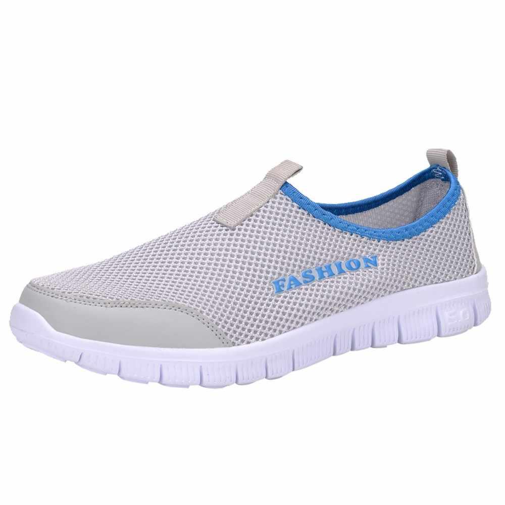 MUQGEW รองเท้าสบายๆรองเท้าผ้าใบชายชาย Breathable ตาข่ายรองเท้าสบายๆสำหรับชายเดินรองเท้ากีฬากลางแจ้ง